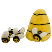 Bees & Beehive Felted Portable Play