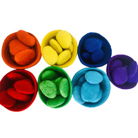 Rainbow Oebble Pebbles Felt Sorting Set