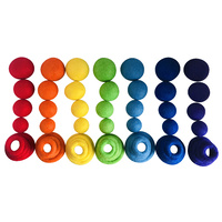Rainbow Felt Ball & Ring Sorting Stacking Set 56pcs