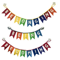 Belonging, Being, Becoming Rainbow Bunting