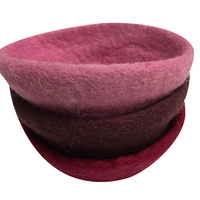 Felt Bowl Set of 3 Pink Hues