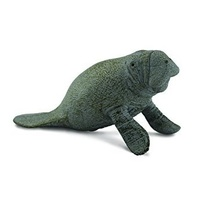 Manatee Calf Sitting Animal Replica