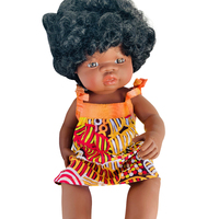 Doll dressed in Bushmelon and Sunset Ties Dress