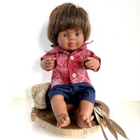 Doll dressed in Dreamtime Riverbed Outfit