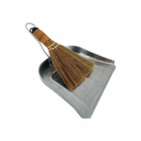 Metal Dustpan & Natural Japanese Brush