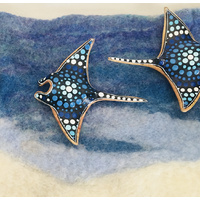 Stingray Manta Ray Handpainted & Silk