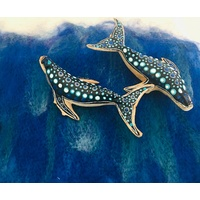 Hand painted Whale & Play Cloth