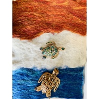 Noongar Hand Painted Turtle On Waterscape