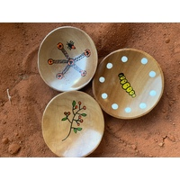 Trio of Noongar Painted Bush food Plates