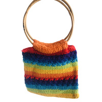 Rainbow shopping bag
