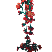 Red 'Poppy' Felt Flower Garland