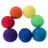 Rainbow 4cm Felt Ball Set 7