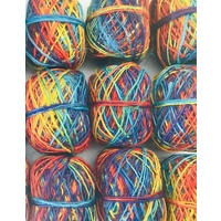 Rainbow Hemp Twine Yarn 17gm