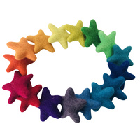 Rainbow Stars 4cm x 16 Felt Graduating Sorting Set PPJ