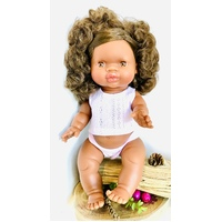 Aboriginal Australian Girl Doll Brown Hair 34cm
