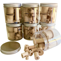Wooden Spools Portable Play Jars