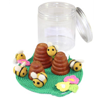Bees & Beehive Portable Play Jar