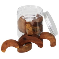Balancing Curves Wooden Portable Play Jar