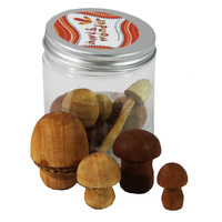 Mushroom Assorted Wooden Portable Play Jar