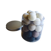 Felt Balls 2cm Natural Portable Play Jar