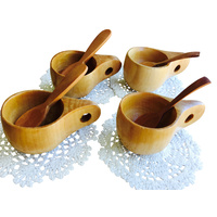 Wood Tea Set For Four Portable Play Jars