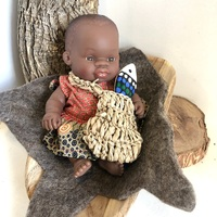 Aboriginal Australian 21cm Baby Girl Coolamon Set