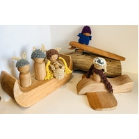 Viking, Plane & Surfer Peg Doll Play Set
