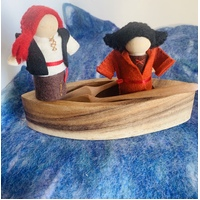 Pirate Pair with Boat and Oars