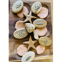Natural Organic Inspired Play Dough Pebble Stampers