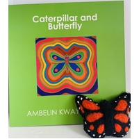 Caterpillar and Butterfly Book and Monarch Felt Butterfly Set