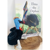 Elmo the Orphan Book and Cassowary Plush