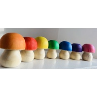 Rainbow Mushrooms 7 colours x 4.5cm