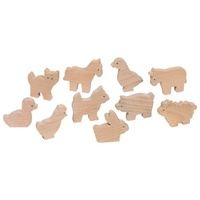 Wooden Farm Animals 10pcs