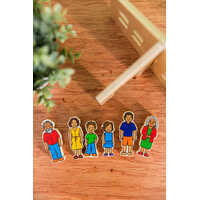 Aboriginal Australian Family - Wooden Set of 6