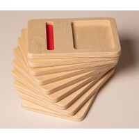 Wooden Number Trays 10-20