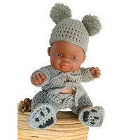 Bear Crochet Outfit For 21cm Doll