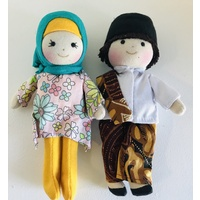 Cultural 16cm Dolls Boy & Girl Set - Muslim